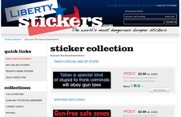 http://www.libertystickers.com/category/Guns_and_The_Second_Amendment/