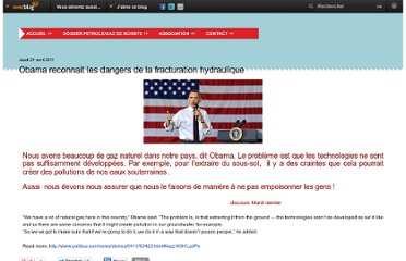 http://www.sosplanetendanger.com/article-obama-reconnait-les-dangers-de-la-fracturation-hydraulique-72222723.html