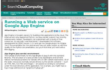 http://searchcloudcomputing.techtarget.com/tip/Running-a-Web-service-on-Google-App-Engine