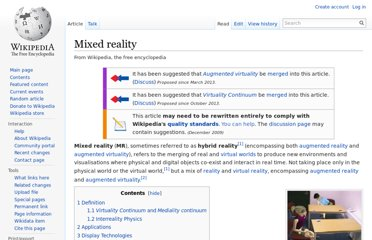 http://en.wikipedia.org/wiki/Mixed_reality
