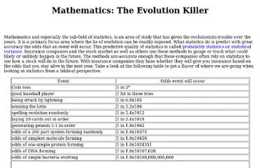 http://www.ukapologetics.net/08/evolutionandmath.htm