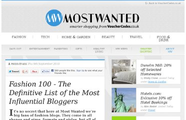 http://www.vouchercodes.co.uk/most-wanted/fashion-100-the-definitive-list-of-the-most-influential-bloggers-4008.html