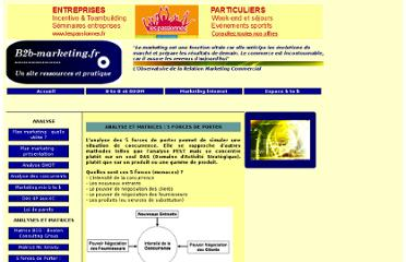 http://www.b2b-marketing.fr/1-5-forces-de-porter.php