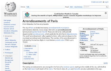 http://en.wikipedia.org/wiki/Arrondissements_of_Paris
