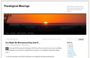 http://www.theologicalmusingsblog.com/2007/11/24/you-might-be-misrepresenting-god-if/
