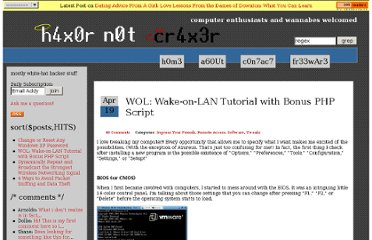http://www.hackernotcracker.com/2006-04/wol-wake-on-lan-tutorial-with-bonus-php-script.html