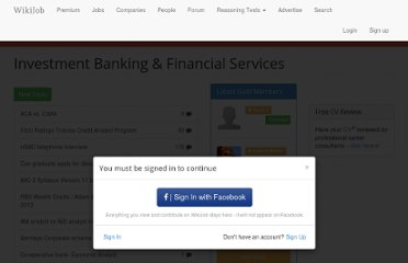 http://www.wikijob.co.uk/forum/investment-banking-financial-services?destination=forum%2F1000005