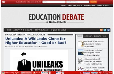 http://www.onlineschools.org/education-debate/unileaks-a-wikileaks-clone-for-higher-education-good-or-bad/