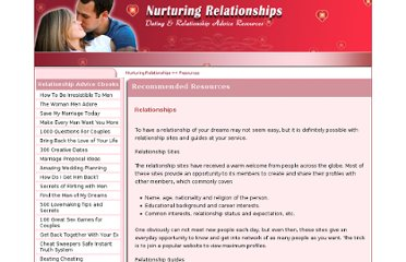 http://www.nurturingrelationships.com/resources/relationships.html