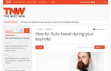 http://thenextweb.com/lifehacks/2011/04/22/how-to-auto-tweet-during-your-keynote/