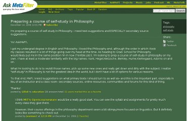 http://ask.metafilter.com/53153/Preparing-a-course-of-selfstudy-in-Philosophy