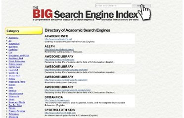 http://www.search-engine-index.co.uk/academic_search