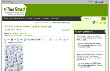 http://www.teleread.com/paul-biba/40-free-tools-for-authors-by-piotr-kowalczyk/