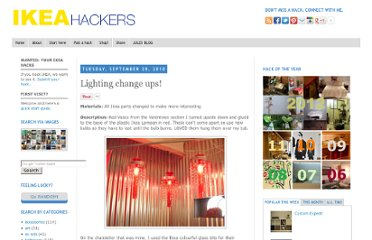 http://www.ikeahackers.net/2010/09/lighting-change-ups.html