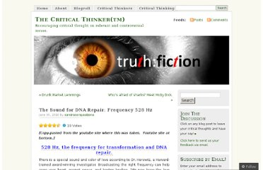 http://thecriticalthinker.wordpress.com/2010/06/30/the-sound-for-dna-repair-frequency-528-hz/