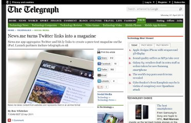 http://www.telegraph.co.uk/technology/social-media/8468078/News.me-turns-Twitter-links-into-a-magazine.html