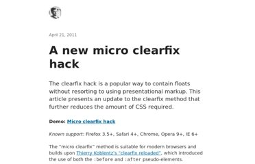 http://nicolasgallagher.com/micro-clearfix-hack/