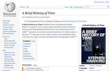 http://en.wikipedia.org/wiki/A_Brief_History_of_Time