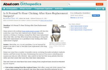 http://orthopedics.about.com/od/kneereplacement/f/Clicking-After-Knee-Replacement.htm