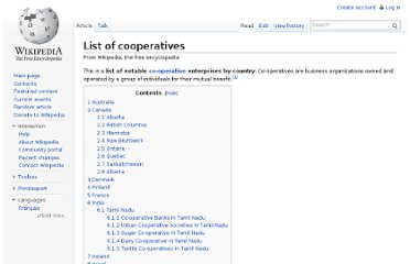 http://en.wikipedia.org/wiki/List_of_cooperatives
