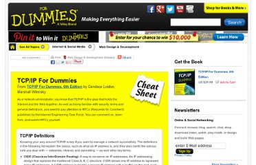 http://www.dummies.com/how-to/content/tcpip-for-dummies-cheat-sheet.html