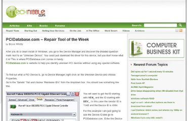 http://www.technibble.com/pcidatabase-repair-tool-of-the-week/