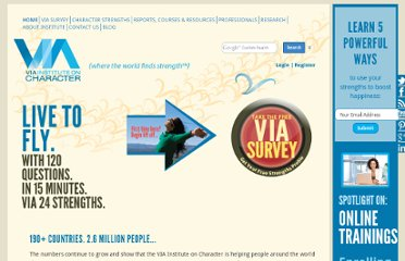 http://www.viacharacter.org/Surveys/SurveyCenter.aspx