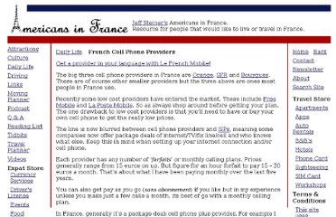 http://www.americansinfrance.net/DailyLife/French-Cell-Phone-Providers.cfm