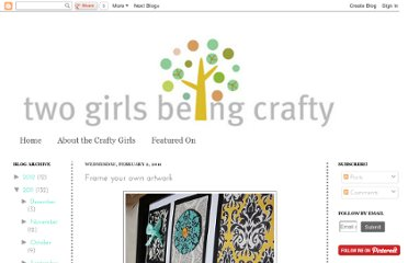 http://twogirlsbeingcrafty.blogspot.com/2011/02/frame-your-own-artwork.html
