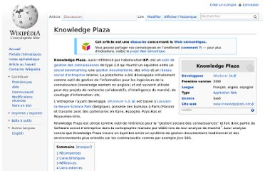 http://fr.wikipedia.org/wiki/Knowledge_Plaza