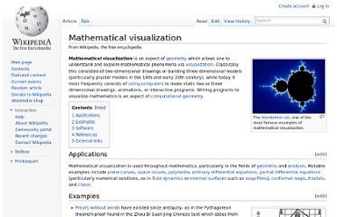 http://en.wikipedia.org/wiki/Mathematical_visualization
