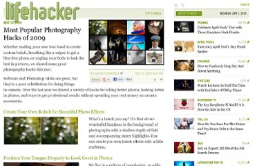 http://lifehacker.com/5424825/most-popular-photography-hacks-of-2009