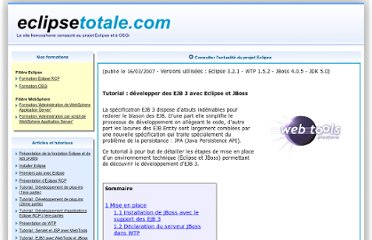http://www.eclipsetotale.com/articles/Introduction_EJB3_avec_Eclipse.html