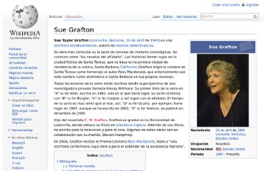 http://es.wikipedia.org/wiki/Sue_Grafton