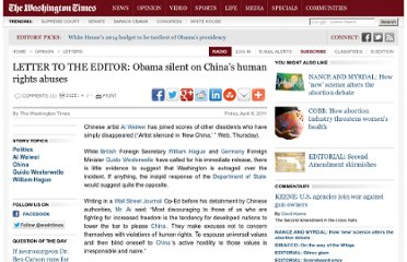 http://www.washingtontimes.com/news/2011/apr/8/obama-silent-on-chinas-human-rights-abuses/