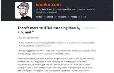 http://wonko.com/post/html-escaping