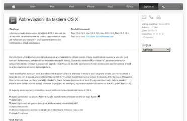 http://support.apple.com/kb/HT1343?viewlocale=it_IT