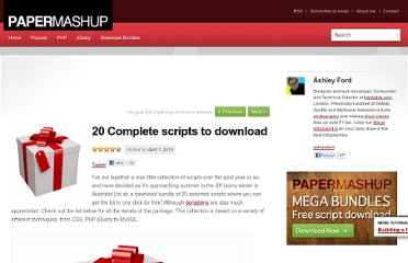http://papermashup.com/20-complete-scripts-to-download/