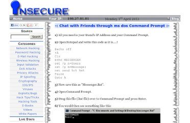 http://www.insecure.in/cmd_chat_trick.asp