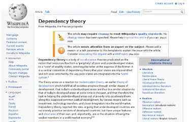 http://en.wikipedia.org/wiki/Dependency_theory