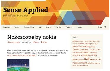 http://senseapplied.com/index.php/nokoscope-by-nokia/