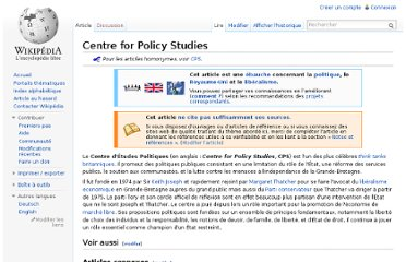 http://fr.wikipedia.org/wiki/Centre_for_Policy_Studies