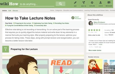 http://www.wikihow.com/Take-Lecture-Notes