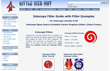 http://littlewebhut.com/inkscape/graphics_filter_guide/