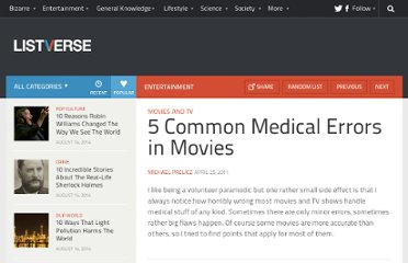 http://listverse.com/2011/04/25/5-common-medical-errors-in-movies/