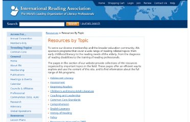 http://www.reading.org/Resources/ResourcesByTopic.aspx