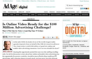http://adage.com/article/digitalnext/online-video-ready-100-million-advertising-challenge/227078/