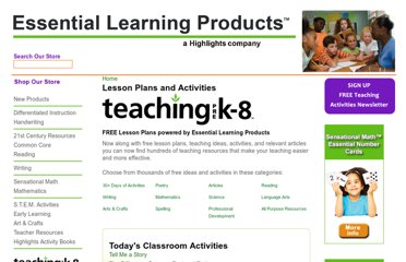 http://www.essentiallearningproducts.com/lesson-plans-and-activities