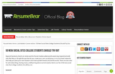 http://blog.resumebear.com/college-graduates/50-new-social-sites-college-students-should-try-out/