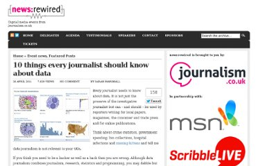 http://www.newsrewired.com/2011/04/26/10-things-every-journalist-should-know-about-data/